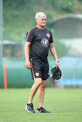 04.07.2015, Sportplatz Neustift, Neustift, AUT, Trainingslager, Eintracht Frankfurt, im Bild Armin Veh (Trainer / Coach Eintracht Frankfurt) steht auf dem Platz und beobachtet das erste Training seiner Mannschaft im Trainingslager // during the Preparation Camp of the German Bundesliga Club Eintracht Frankfurt at the Sportplatz Neustift in Neustift, Austria on 2015/07/04. EXPA Pictures © 2015, PhotoCredit: EXPA/ Eibner-Pressefoto/ Fudisch<br /> <br /> *****ATTENTION - OUT of GER*****