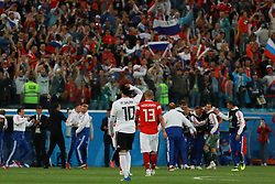 June 19, 2018 - SãO Petersburgo, Rússia - SÃO PETERSBURGO, MO - 19.06.2018: RUSSIA VS EGYPT - Commemoration of Russian players and fans and Mohamed Salah regrets after the end of the match between Russia and Egypt valid for the 2018 World Cup held at the Zenit Arena in St. Petersburg, Russia. (Credit Image: © Ricardo Moreira/Fotoarena via ZUMA Press)