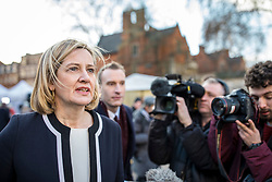 © Licensed to London News Pictures. 12/12/2018. London, UK. Former Home Secretary Amber Rudd MP arrives on College Green to give interviews. Prime Minister Theresa May faces a vote of no confidence from her own party this evening. Photo credit: Rob Pinney/LNP