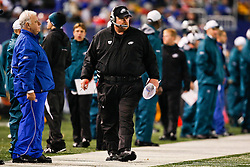 Philadelphia Eagles Head Coach Andy Reid on the sideline during the NFL game between the Philadelphia Eagles and the New York Giants on December 13th 2009. The Eagles won 45-38 at Giants Stadium in East Rutherford, New Jersey. (Photo By Brian Garfinkel)