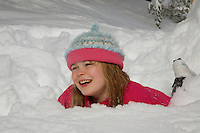 playing in the snow after a blizzard
