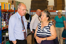 Networking at the opening of FareShare's relocated warehouse in Ashford, Kent. Ashford, Kent, May 23 2019.
