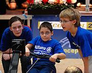 Dresden, GERMANY, Junior team racing at the European Indoor Rowing Championships, Margon Arena,  15/12/2007 [Mandatory Credit Peter Spurrier/Intersport Images]