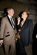 JOE CORRE; JERRY HALL, Chaos Point: Vivienne Westwood Gold Label Collection performance art catwalk show and auction in aid of the NSPCC. Banqueting House. London. 18 November 2008<br /> *** Local Caption *** -DO NOT ARCHIVE -Copyright Photograph by Dafydd Jones. 248 Clapham Rd. London SW9 0PZ. Tel 0207 820 0771. www.dafjones.com