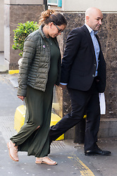 © Licensed to London News Pictures. 21/05/2018. London, UK. ANDREIA GOMES and MARCIA GOMES arrives for the start of the Grenfell inquiry commemoration hearings. The couple lost their unborn baby son LOGAN ISSAC in the disaster. Each of the 71 victims of the Grenfell Tower fire will be commemorated to mark the start of evidence being heard by the public inquiry into the tragedy. Photo credit: Ray Tang/LNP
