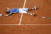 Roland Garros. Paris, France. June 11th 2006..Men's final. Rafael Nadal wins against Roger Federer. .It's his 60th victory in a row on clay 1-6, 6-1, 6-4, 7-6.