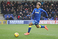 AFC Wimbledon striker Lyle Taylor (33) chasing the ball during the EFL Sky Bet League 1 match between AFC Wimbledon and Northampton Town at the Cherry Red Records Stadium, Kingston, England on 10 February 2018. Picture by Matthew Redman.