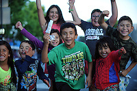 Scenes from the nighttime 2015 Colmo del Rodeo Parade on Saturday. The event marks the start of Big Week in Salinas, CA, and is preceded by the Kiddy Kapers Parade, which celebrates children.