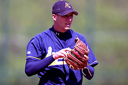 22 April 2006:  ....Viking pitcher Kevin Kuntz.....In CCIW, Division 3 action, the Titans of Illinois Wesleyan capped the Auggies of Augustana College by a scor of 3-2 in game one of a double card afternoon.  Games were held at Jack Horenberger field on the campus of Illinois Wesleyan University in Bloomington, Illinois