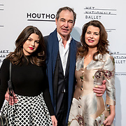 NLD/Amsterdam/20180324 - inloop première Dutch Doubles ballet, Eric de Vogel, partner Caroline de Bruijn en dochter Solane