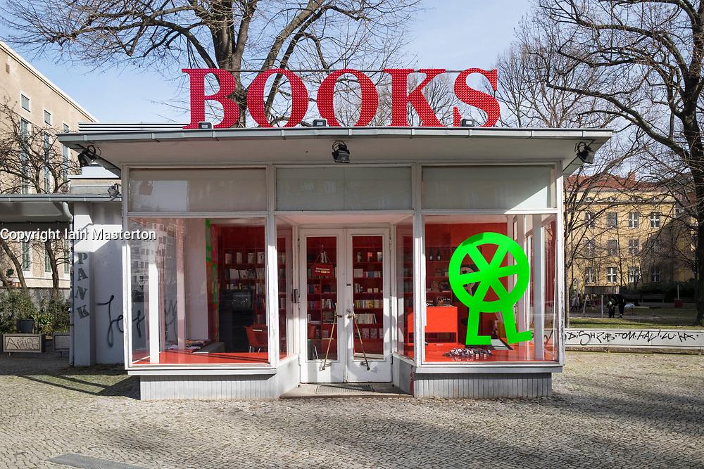 Bookshop at Volksbuhne Theatre in Mitte, Berlin, Germany