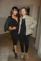 Lizzie Cundy and Dougie Poynter at PPQ LFW Autumn Winter 2017 show, Crypt on the Green, Clerkenwell, London England. 17 February 2017.