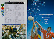 All Ireland Senior Hurling Championship Final,.08.09.2002, 09.08.2002, 8th September 2002,.Senior Kilkenny 2-20, Clare 0-19,.Minor Kilkenny 3-15, Tipperary 1-7,.8092002AISHCF,.O2,