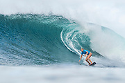 Sage Erickson of the USA will surf in Round Two of the 2017 Maui Women's Pro after placing second in Heat 6 of Round One at Honolua Bay, Maui, Hawaii, USA.