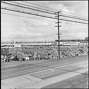 Y-580318. Reimann & McKenney, drum plant, 3000 NW St. Helens Rd, near NW Guam. March 18, 1958.