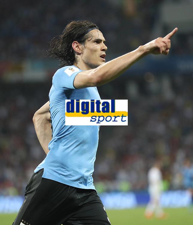 WM 2018, Uruguay - Portugal (180630) -- SOCHI, June 30, 2018 -- Edinson Cavani of Uruguay celebrates scoring during the 2018 FIFA World Cup WM Weltmeisterschaft Fussball round of 16 match between Uruguay and Portugal in Sochi, Russia, June 30, 2018. ) (SP)RUSSIA-SOCHI-2018 WORLD CUP-ROUND OF 16-URUGUAY VS PORTUGAL FeixMaohua PUBLICATIONxNOTxINxCHN