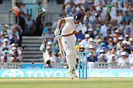 Captain Alastair Cook of England during the third day of the 5th Investec Ashes Test match between England and Australia at The Oval, London, United Kingdom on 22 August 2015. Photo by Ellie Hoad.