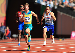 Great Britain's Ashley Bryant (right) competes alongside Australia's Cedric Dubler in the Men's Decathlon Heat 2 during day eight of the 2017 IAAF World Championships at the London Stadium.