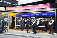 Lord Andrew Lloyd Webber, opens Cinderella with a social distanced performance, crowds lined up outside the theatre in Drury Lane Covent Garden London.photo by Terry Scott