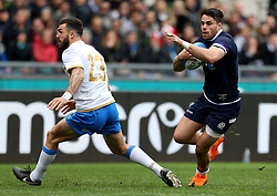 Scotland's Sean Maitland in action during the NatWest 6 Nations match at the Stadio Olimpico, Rome.