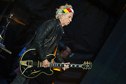 Keith Richards of The Rolling Stones performs on stage at Ricoh Arena on June 02, 2018 in Coventry, England. Picture date: Saturday 02 June, 2018. Photo credit: Katja Ogrin/ EMPICS Entertainment.