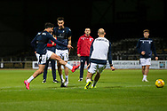 06/10/2020: Dundee FC train at Kilmac Stadium after their Betfred Cup match against Forfar Athletic was postponed due to a positive COVID test result for one of the Forfar players: Declan McDaid of Dundee fires in a shot <br /> <br /> <br />  :©David Young: davidyoungphoto@gmail.com: www.davidyoungphoto.co.uk