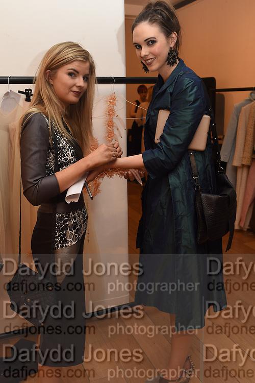 TARA ENNIS; DESIGNER; BLAITHIN ENNIS, The Arthur Cox Irish Fashion Showcase 2015,  Irish based designers chosen to be part of this year's Arthur Cox Irish Fashion Showcases The Mall Galleries, London. 13 May 2015.