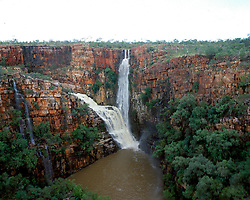 Reva Falls on the Isdell River in the Kimberley wet season.