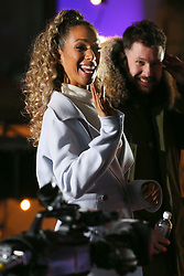 Leona Lewis performing sound checks ahead of tonight BBC The One Show - London. 14 Feb 2018 Pictured: Leona Lewis. Photo credit: MEGA TheMegaAgency.com +1 888 505 6342