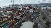 Aerial Still images around Dublin Port during COVID 19 lockdown, Stenna, CLdN, P&O, Cobbelfreight, Tolka Quay, Alexander Rd, Terminal 1,2 ,3, River Liffey, EXO, Building, East Link, Bridge, River Liffey, Samual Beckett Bridge, Capitol Dock, North Quay, Wall, Ringsend, Pidgin House, South Bank Quay,