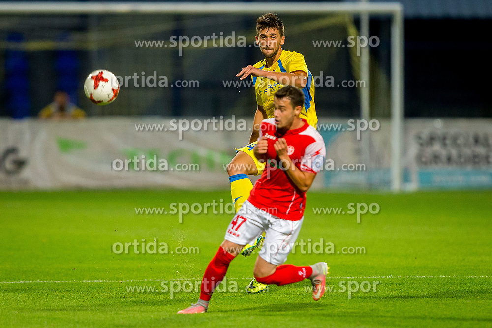 Faruk Gacan of NK Domzale during football match between NK Domžale and NK Aluminij in 6th Round of Prva liga Telekom Slovenije 2017/18, on August 20, 2017 in Sports park Domzale, Domzale. Photo by Ziga Zupan / Sportida