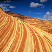 Striations in stone and the fantastic llandscape of the Vermillion Cliffs - Paria Wilderness located in both Utah and Arizona.