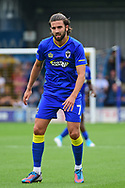 AFC Wimbledon Midfielder George Francomb (7) during the Pre-Season Friendly match between AFC Wimbledon and Watford at the Cherry Red Records Stadium, Kingston, England on 15 July 2017. Photo by Jon Bromley.