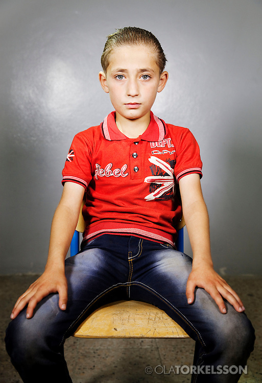Imad (not his real name) is 10 years old and comes from the Damascus area.<br /> Photos Ola Torkelsson <br /> Copyright Ola Torkelsson © 2013