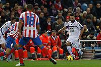 09.12.2012 SPAIN -  La Liga 12/13 Matchday 15th  match played between Atletico de Madrid vs R.C. Deportivo de la Courna (6-0) at Vicente Calderon stadium. The picture show  Bruno Gama (Player of R.C. Deportivo)