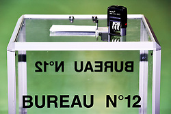 June 18, 2017 - Henin Beaumont, France, France - Urne du Bureau 12 - envoloppe - illustration vote (Credit Image: © Panoramic via ZUMA Press)