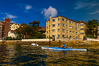 Sea kayaking, Manly, Sydney, New South Wales, Australia