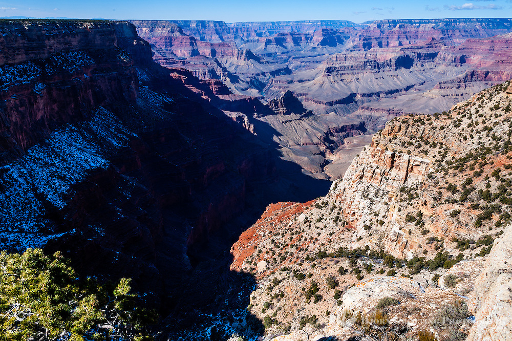 United States, Arizona, Grand Canyon. While most Grand Canyon view points stick out from the rim The Abyss is located along an indentaion in the steep Canyon walls.