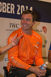 Press conference one day before the start of the in-port race in Alicante, 3-10-1014, Alicante  - Spain.