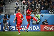 Romelu Lukaku and Kevin De Bruyne of Belgium during the 2018 FIFA World Cup Russia, Semi Final football match between France and Belgium on July 10, 2018 at Saint Petersburg Stadium in Saint Petersburg, Russia - Photo Thiago Bernardes / FramePhoto / ProSportsImages / DPPI