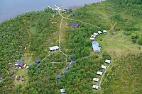 Tjuonajokk fishing camp, Kaitum river, Stora Sjöfallet National Park, Laponia UNESCO World Heritage Site, Greater Laponia rewilding area, Lapland, Norrbotten, Sweden