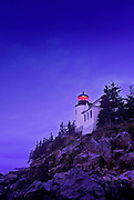 Image of the Bass Harbor Head Lighthouse at Acadia National Park on the coast of Maine, American Northeast by Randy Wells