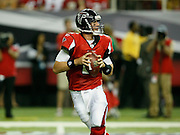 ATLANTA - AUGUST 29:  Quarterback Matt Ryan #2 of the Atlanta Falcons drops back to pass during the game against the San Diego Chargers at the Georgia Dome on August 29, 2009 in Atlanta, Georgia.  The Falcons beat the Chargers 27-24.  (Photo by Mike Zarrilli/Getty Images)