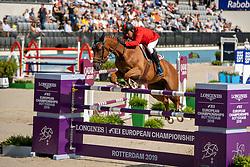 Goncalves Luis Sabino, POR, Unesco du Rouet<br /> European Championship Jumping<br /> Rotterdam 2019<br /> © Dirk Caremans<br /> Goncalves Luis Sabino, POR, Unesco du Rouet
