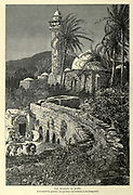 The Mosque of Jenin Engraving on Wood from Picturesque Palestine, Sinai and Egypt by Wilson, Charles William, Sir, 1836-1905; Lane-Poole, Stanley, 1854-1931 Volume 2. Published in New York by D. Appleton in 1881-1884