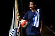 Former track star Marion Jones makes the drive three times a week from Austin to San Antonio to train for an upcoming WNBA tryout.