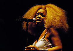 Leela James <br /> performs live in London, Great Britain <br /> 4th July 2005 <br /> <br /> Photograph by Elliott Franks <br /> <br /> Aleicha Janeice Campbell born May 22, 1983  known professionally as Leela James, is an American R&B and soul singer-songwriter.