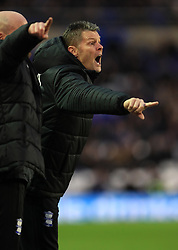Birmingham City's manager Steve Cotterill gestures on the side of the pitch