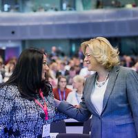 "Brussels, Belgium - 25 September 2017 <br /> ""The Future of Finances"" conference.<br /> Lilyana Pavlova, Minister of Bulgaria's EU Council Presidency and European Commissioner Corina Cretu.<br /> Photo: European Commission / Ezequiel Scagnetti"