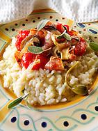 Classic risotto with pesto sauce